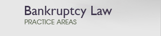 Bankruptcy Law Practice Areas